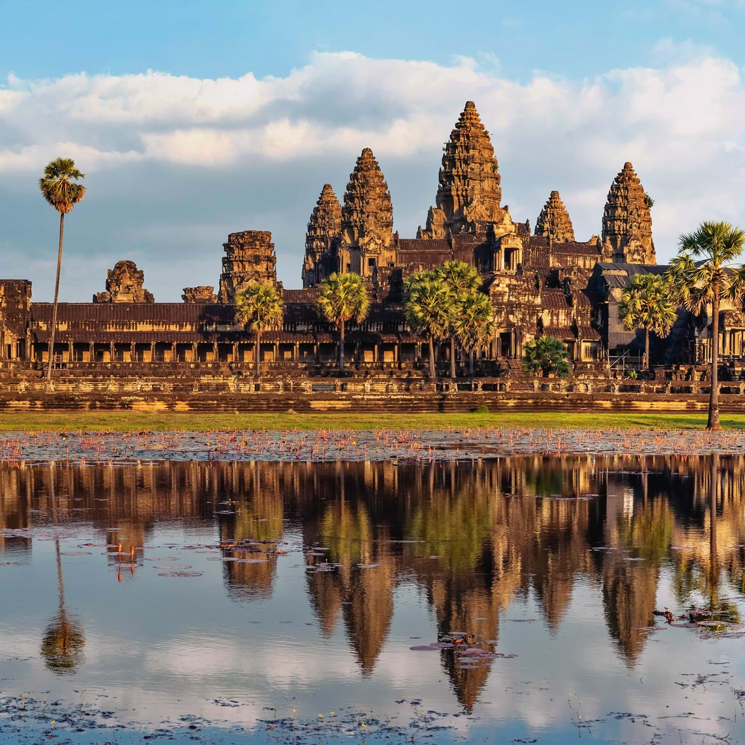 Angkor Wat Cambodia finish line Cycle Vietnam to Cambodia 2019 Dream Challenges