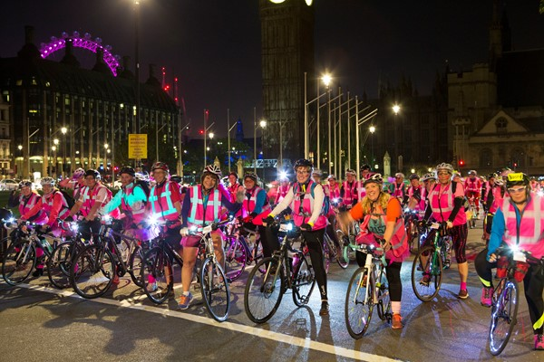 Start line of Ride the Night