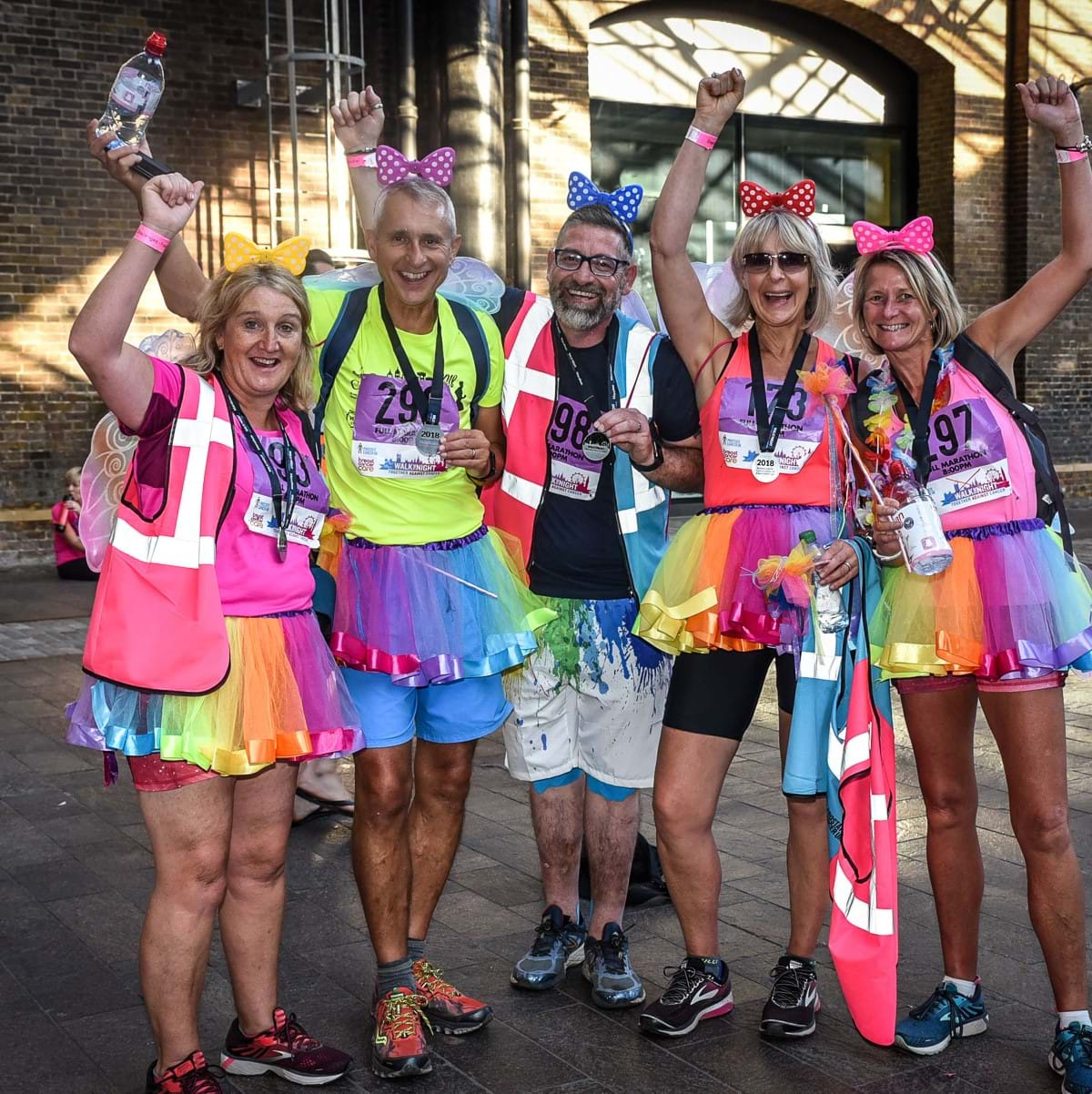 Walk the Night participants Tower Bridge London together against cancer