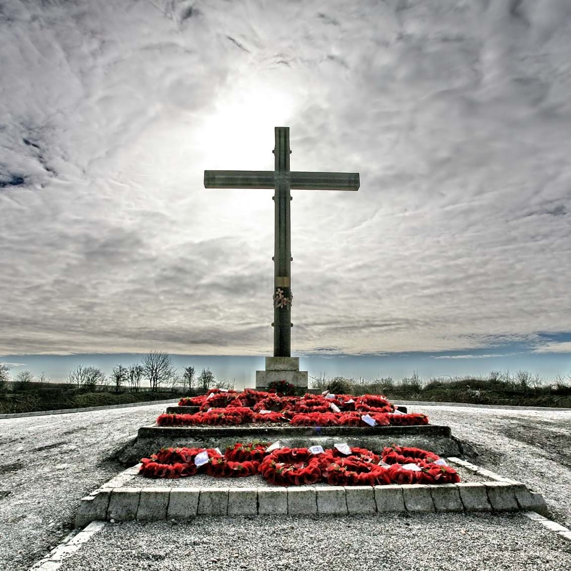 Lochnagar Crater memorial on the Western Front Line of the First World War