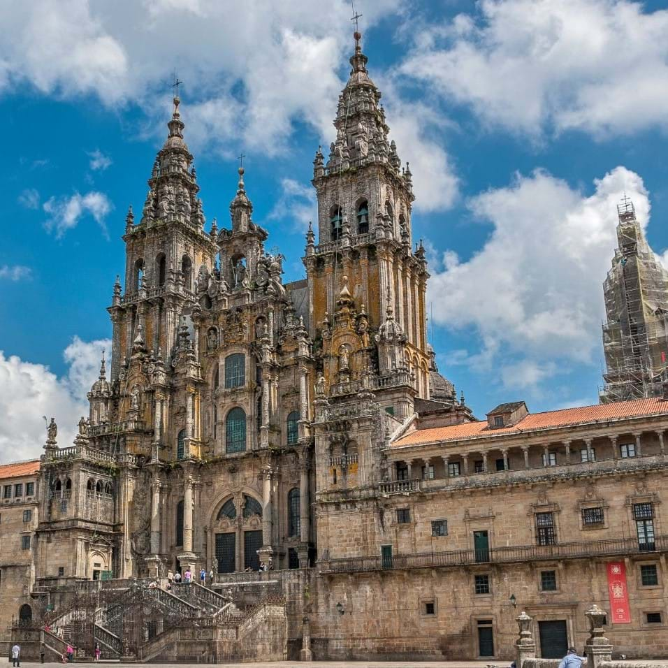 Cathedral in Santiago in Spain