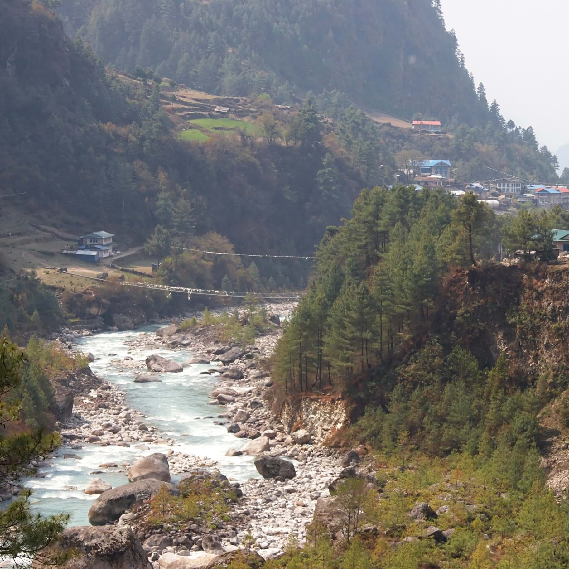 Hike the Himalayas in Nepal mountain valley natural scenery