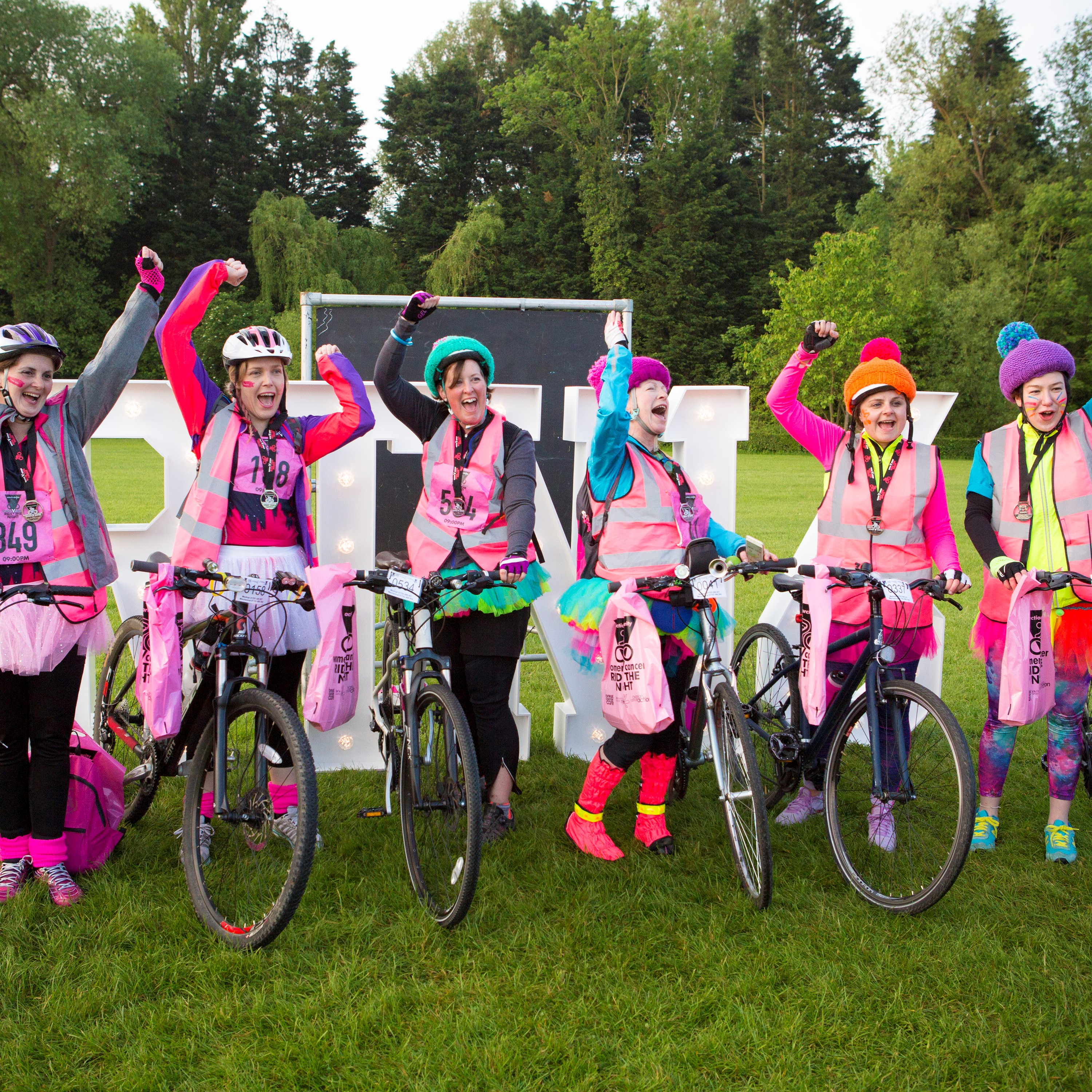 Women V Cancer - Ride the Night charity challenge in London supports Jo's Cervical Cancer Trust, Ovarian Cancer Action and Breast Cancer Care.