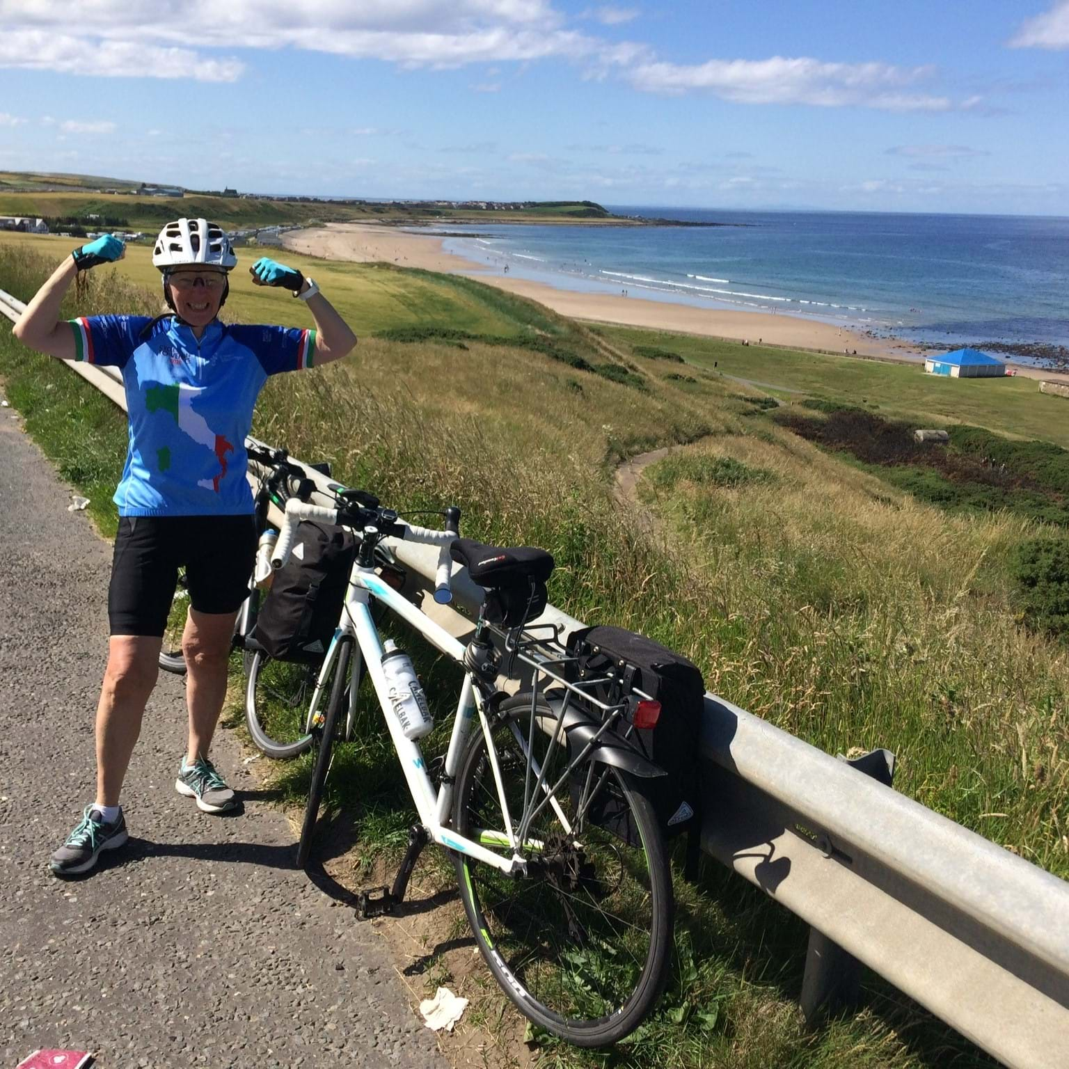 Women V Cancer supporter cycling to fundraise in Scotland