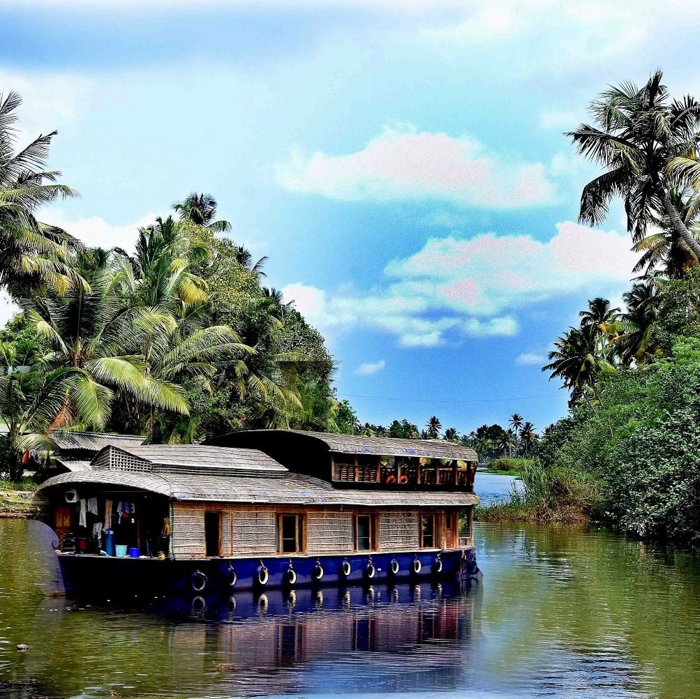 house boat in the backwaters of Kerala in India