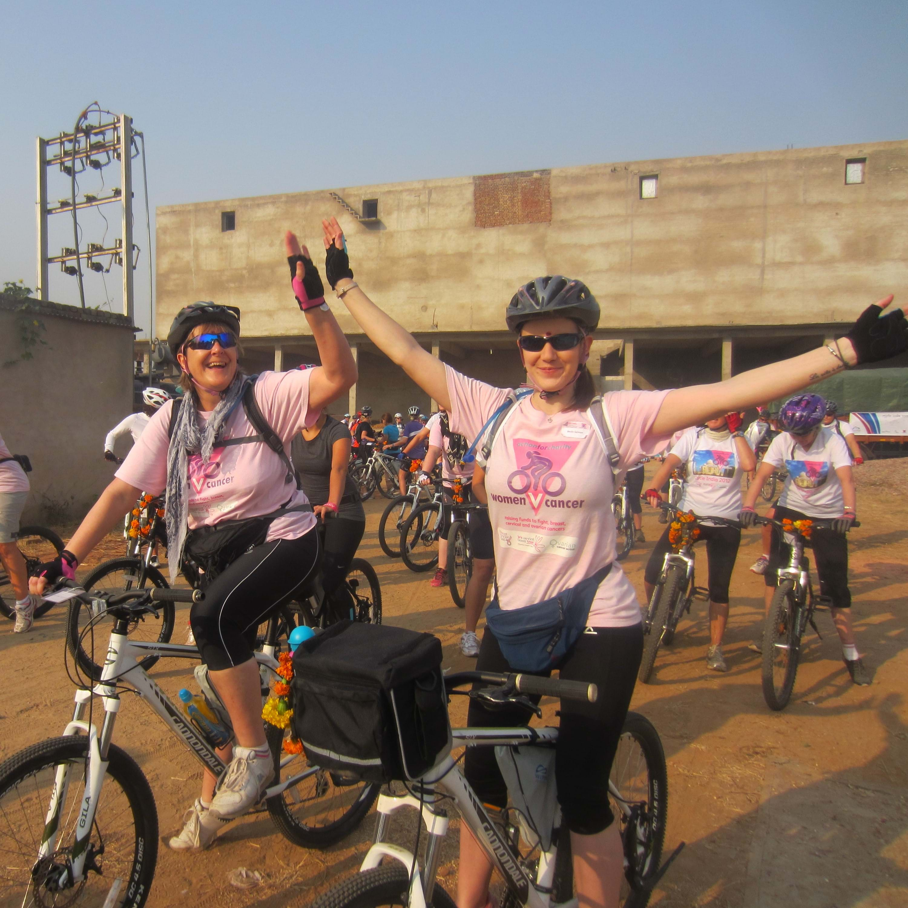 cycling worldwide for charity against cancer